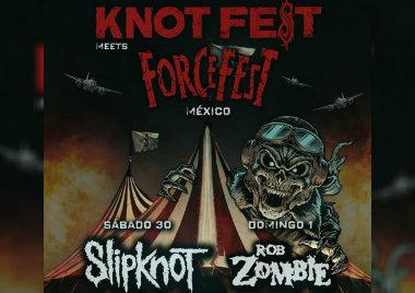 KnotFest, Force Fest, festival musical, rock, metal, Slipknot, Rob Zombie, ciudad de mexico, 2019,