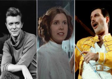 Carrie Fisher y sus romances con David Bowie y Freddie Mercury