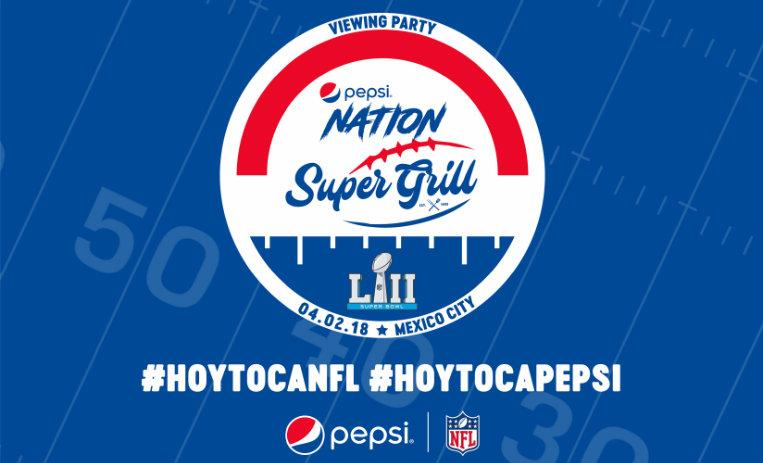 Pepsi Nation Super Grill, fiesta del Super Bowl