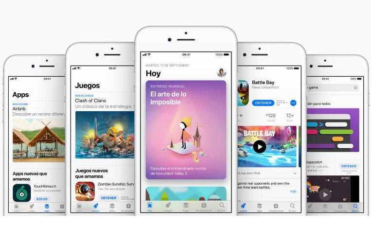 appstore, app store, apple store, ios, apps mas descargadas, apps 2018, mejores apps, 10 años, tecnologia, apple, iphone